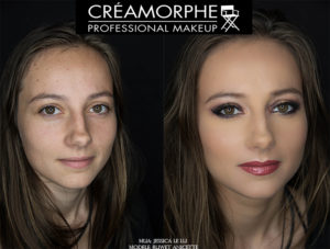 Beauty transformation makeup